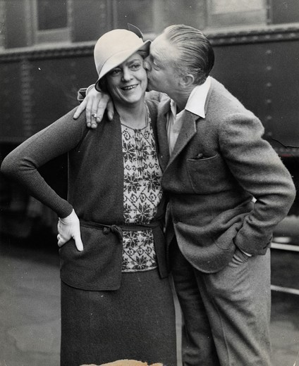John Barrymore and his sister Ethel Barrymore, 1932