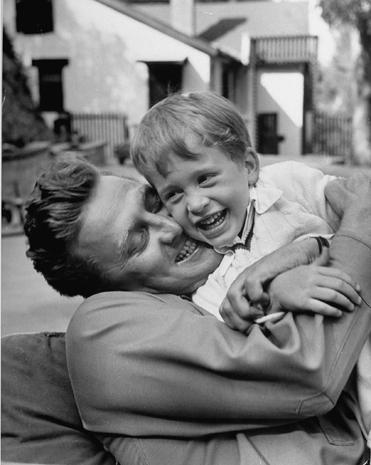 Kirk Douglas [& Family];Michael Douglas