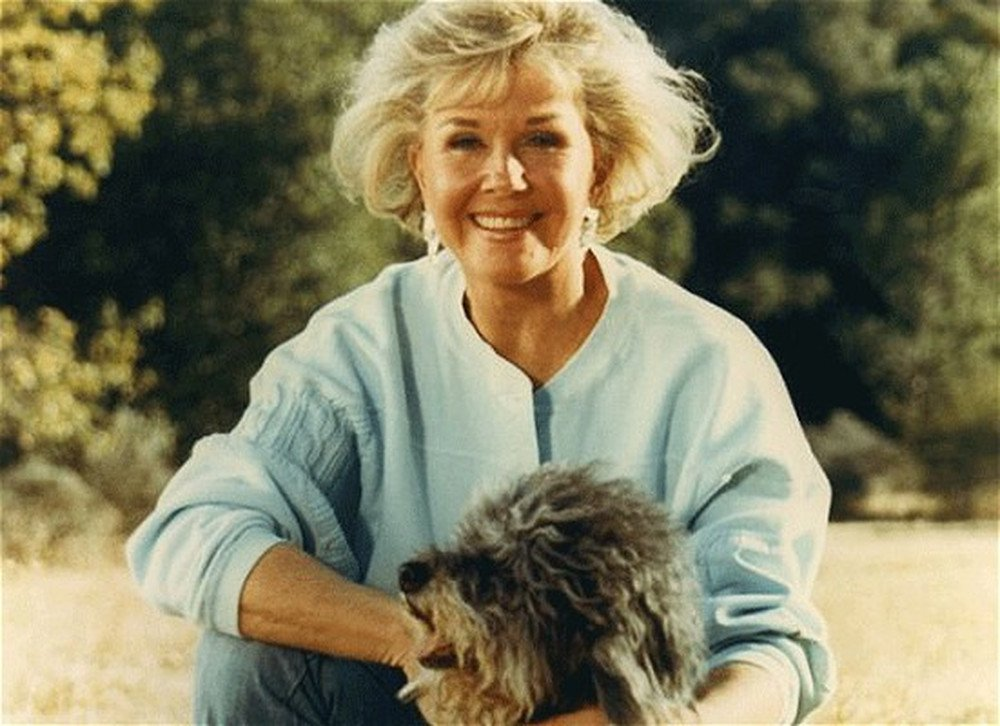 Image result for images of doris day with animals she cared for