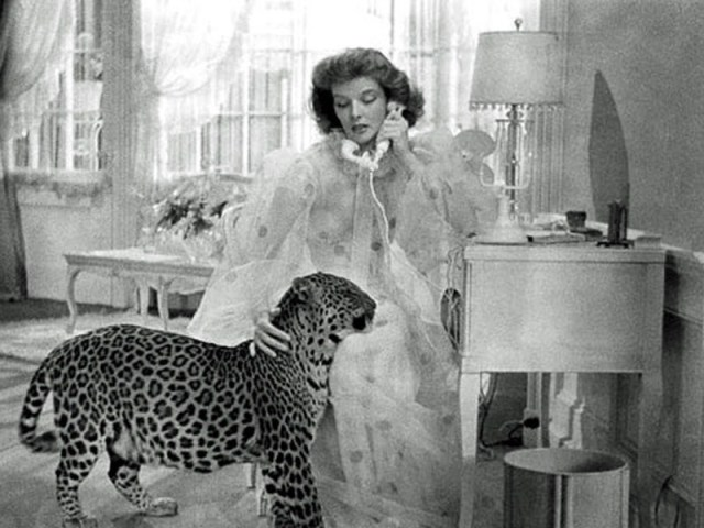 Katharine-Hepburn-and-Leopard-Bringing-Up-Baby