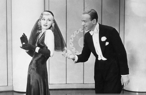 Fred Astaire and Ginger Rogers dancing in the 1936 film Swing Time.